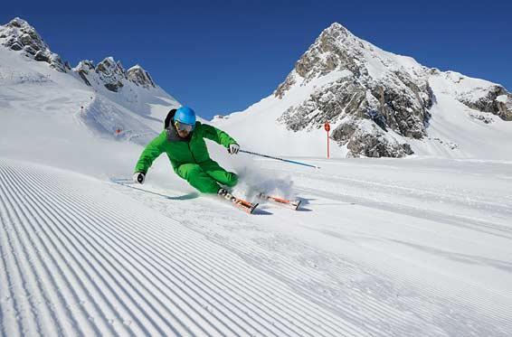 Skiing in Engelberg in Switzerland