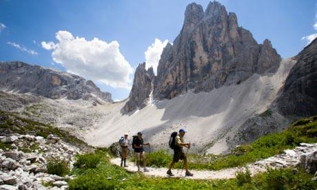 Dolomites trekking