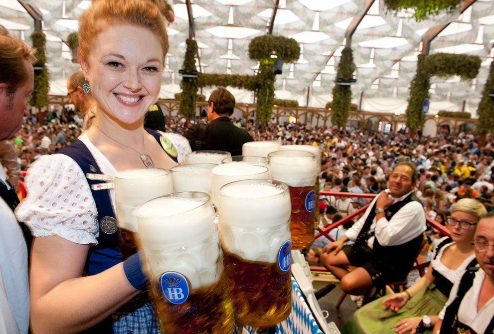 Oktoberfest beer festival in Munich